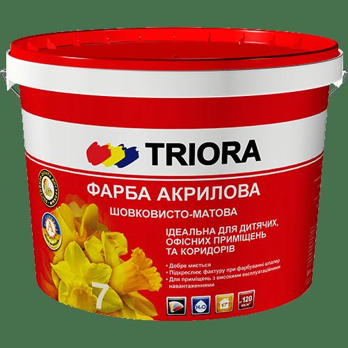 Краска акриловая шелковисто-матовая TRIORA