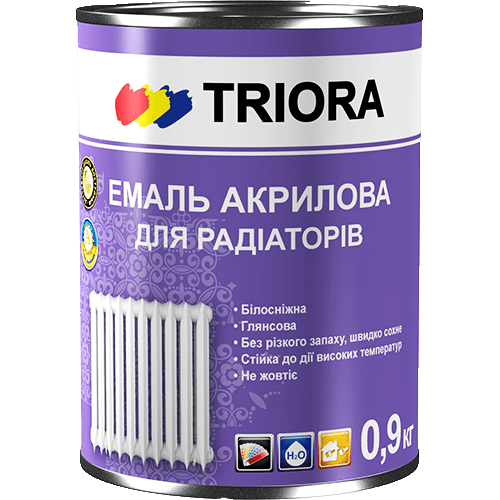 Эмаль акриловая для радиаторов TRIORA