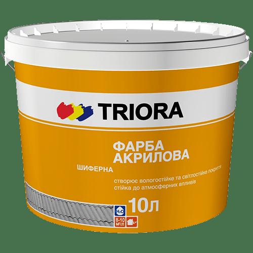 Краска для шифера акриловая TRIORA