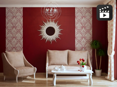 Дизайн гостиной «Элегантное кружево»: простое решение интересной идеи