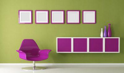 Черпаем идеи из природы: как сочетать фиолетовый и зеленый в интерьере?