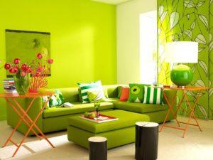 Светло-зеленые оттенки в интерьере